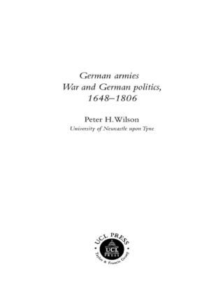German Armies: War and German Society, 1648-1806 book cover