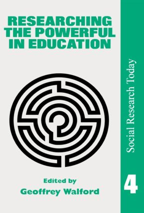 Researching The Powerful In Education: 1st Edition (e-Book) book cover
