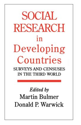 Social Research In Developing Countries: Surveys And Censuses In The Third World (Paperback) book cover