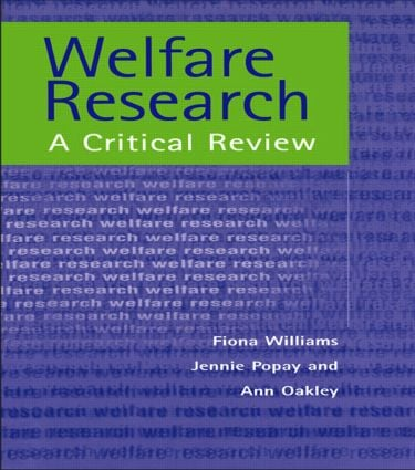 Welfare Research (Paperback) book cover