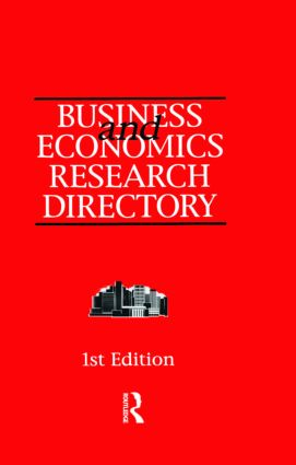 Business and Economics Research Directory: 1st Edition (Hardback) book cover