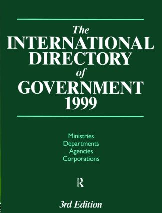 The International Directory of Government 1999 (Hardback) book cover