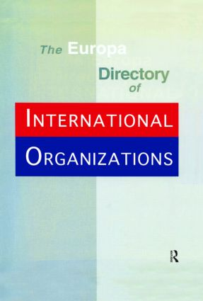 Europa Directory Intl Org Ed1: 1st Edition (Hardback) book cover