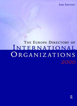 Europa Dir Intl Orgs 2000: 2nd Edition (Hardback) book cover