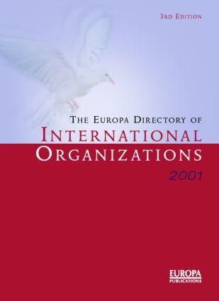 Europa Dir Intl Orgs 2001: 3rd Edition (Hardback) book cover