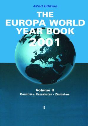 Europa World Year Bk 2001 V2: 42nd Edition (Hardback) book cover