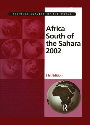 Africa South of the Sahara 2002: 31st Edition (Hardback) book cover