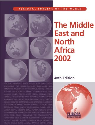 The Middle East and North Africa 2002: 1st Edition (Hardback) book cover