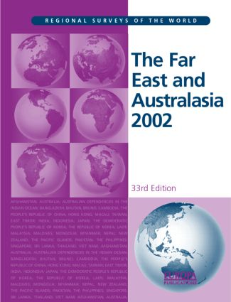 The Far East and Australasia 2002: 33rd Edition (Hardback) book cover