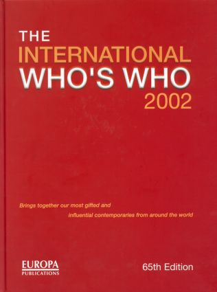 The International Who's Who 2002: 65th Edition (Hardback) book cover
