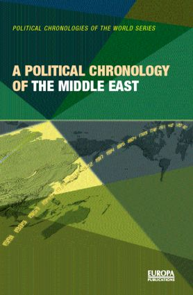 A Political Chronology of the Middle East (Hardback) book cover