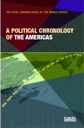 A Political Chronology of the Americas (Hardback) book cover