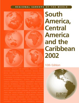 South America, Central America and the Caribbean 2002: 10th Edition (Hardback) book cover