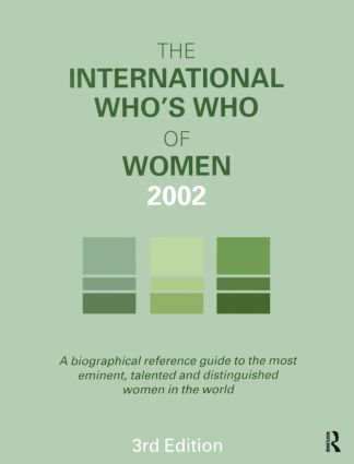 The International Who's Who of Women 2002: 3rd Edition (Hardback) book cover