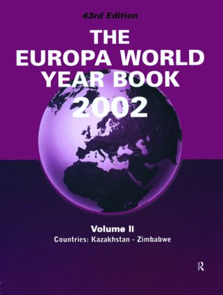 Europa World Year Bk 2002 V2: 1st Edition (Hardback) book cover