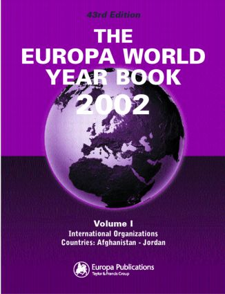 The Europa World Year Book 2002: 1st Edition (Hardback) book cover