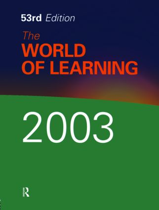 The World of Learning 2003 book cover