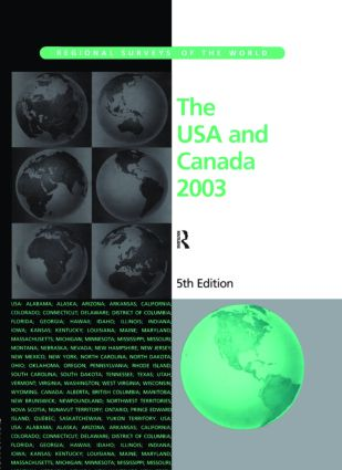 The USA and Canada 2003: 1st Edition (Hardback) book cover