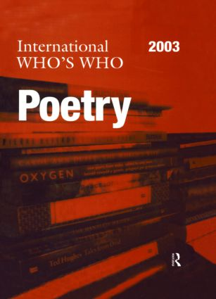 The International Who's Who in Poetry 2003 book cover