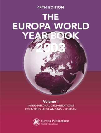 The Europa World Year Book 2003: 1st Edition (Hardback) book cover