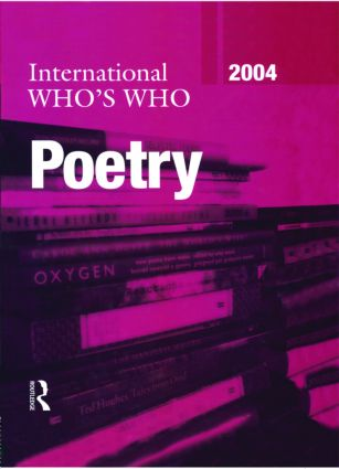 International Who's Who in Poetry 2004: 12th Edition (Hardback) book cover