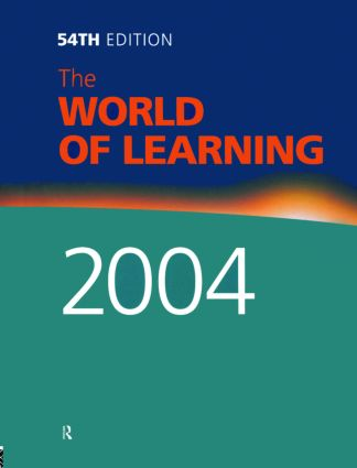 The World of Learning 2004 book cover