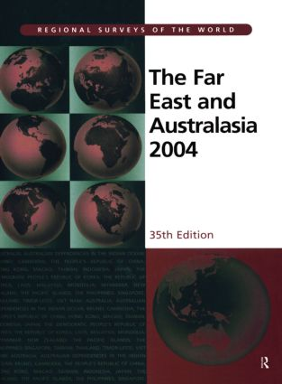 The Far East and Australasia 2004: 35th Edition (Hardback) book cover