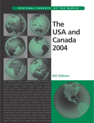 The USA and Canada 2004: 6th Edition (Hardback) book cover