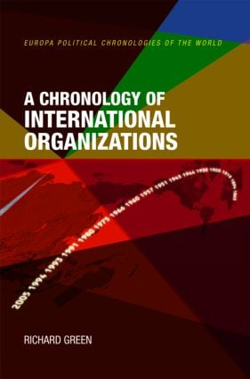 A Chronology of International Organizations book cover