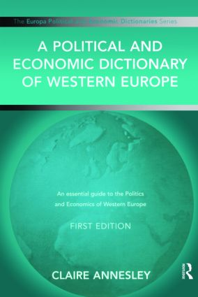 A Political and Economic Dictionary of Western Europe: 1st Edition (Hardback) book cover