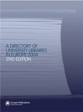 The Directory of University Libraries in Europe 2004: 2nd Edition (Hardback) book cover