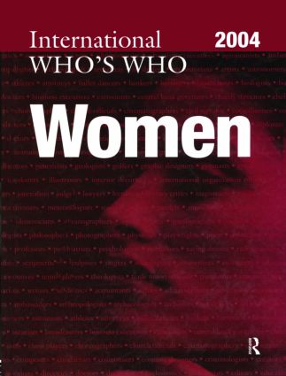 The International Who's Who of Women 2004: 4th Edition (Hardback) book cover