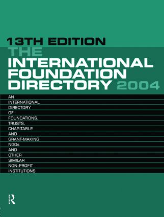 The International Foundation Directory 2004 book cover