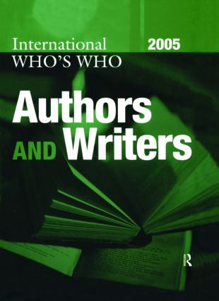 International Who's Who of Authors and Writers 2005: 20th Edition (Hardback) book cover