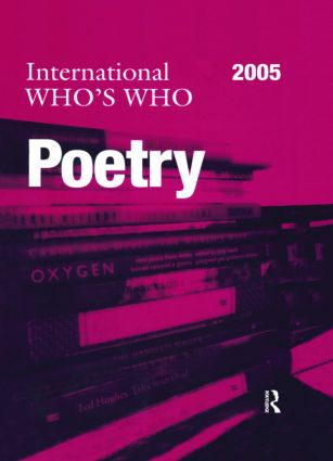 International Who's Who in Poetry 2005: 13th Edition (Hardback) book cover