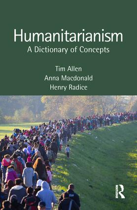 Humanitarianism: A Dictionary of Concepts book cover