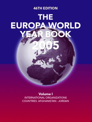 Europa World Year Book 2005 Vo: 46th Edition (Hardback) book cover