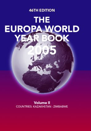 Europa World Year Book 2005 Vo: 46th Edition (Hardback) book cover