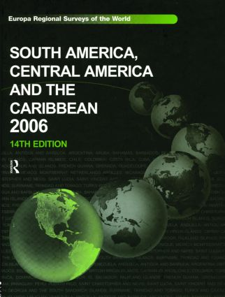 South America, Central America and the Caribbean 2006: 14th Edition (Hardback) book cover