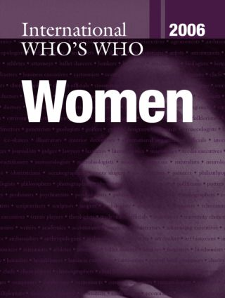 International Who's Who of Women 2006: 1st Edition (Hardback) book cover