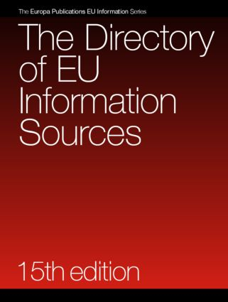 The Directory of EU Information Sources: 15th Edition (Hardback) book cover