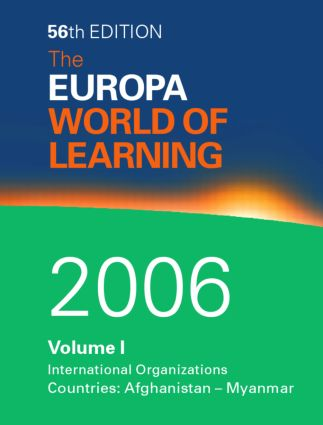 World of Learning 2006 Volume 1: 1st Edition (Hardback) book cover