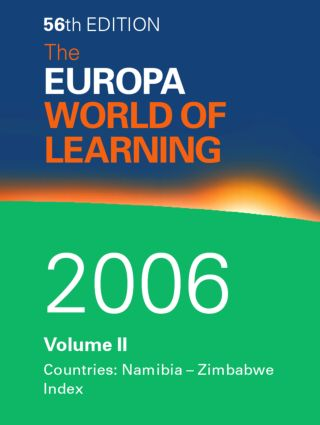 The World of Learning 2006 Volume 2: 1st Edition (Hardback) book cover