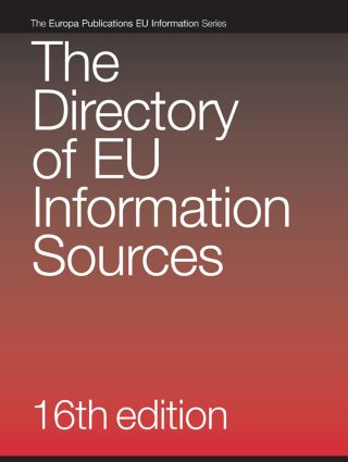 The Directory of European Union Information Sources book cover