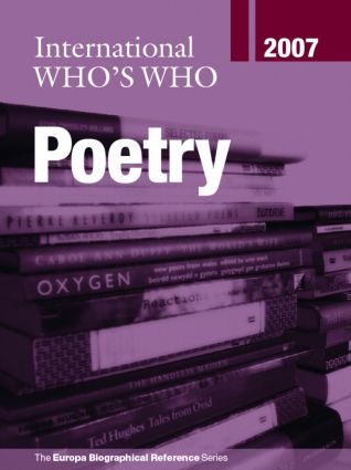 International Who's Who in Poetry 2007: 14th Edition (Hardback) book cover