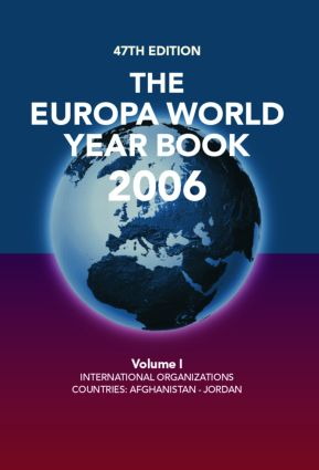 The Europa World Year Book 2006: 47th Edition (Hardback) book cover