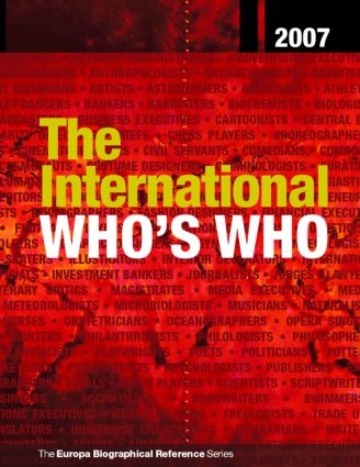 The International Who's Who 2007: 70th Edition (Hardback) book cover