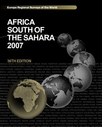 Africa South of the Sahara 2007 book cover