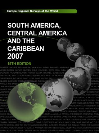 South America, Central America and the Caribbean 2007: 15th Edition (Hardback) book cover