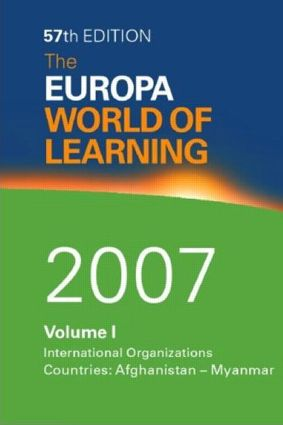 The Europa World of Learning 2007: 57th Edition (Hardback) book cover
